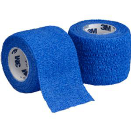 "3M Coban Self-Adherent Wrap, Non-Sterile, 3"" x 5 yards, Blue"