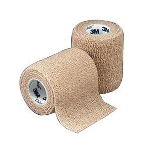 """3M Coban Self-Adherent Wrap, Latex, Non-Sterile, 3"""" x 5 yards, Tan"""