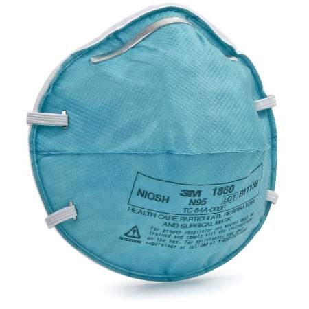3M Particulate Respirator and Surgical Mask Regular, Adjustable Noseclip