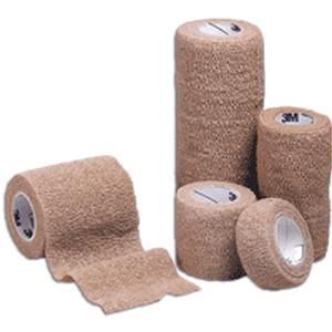 """3M Coban Self-Adherent Wrap, Non-Sterile, Latex-Free, 1"""" x 5 yards, Tan"""