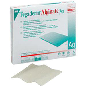 "3M Tegaderm Alginate Ag Silver Dressing 2"" x 2"""