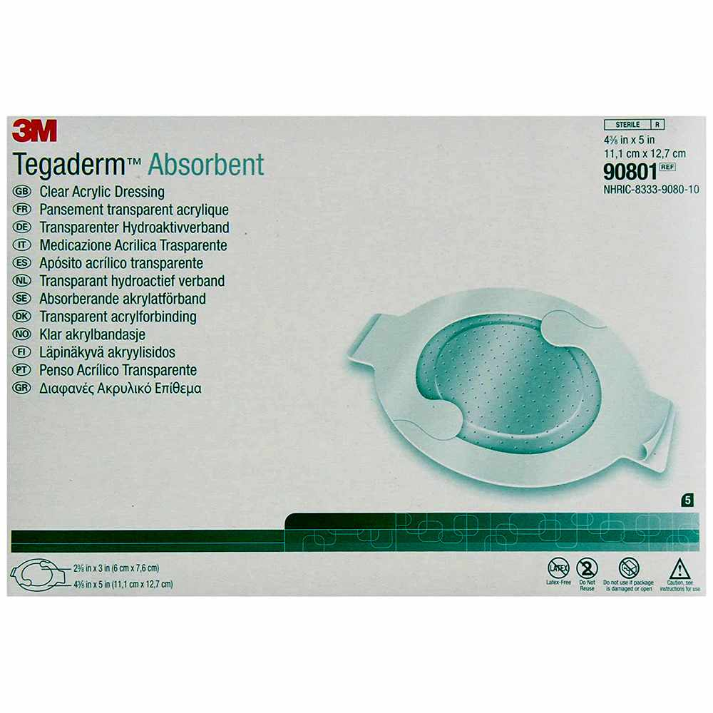 3M Tegaderm Clear Absorbent Acrylic Dressing