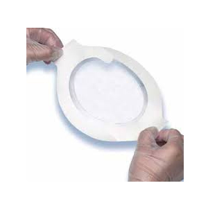 "3M Tegaderm Clear Absorbent Acrylic Dressing, Small 3"" x 3-3/4"" Oval"