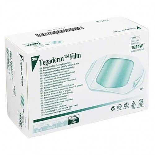 """3M Tegaderm Transparent Adhesive Film Dressing, 4"""" x 4-3/4"""""""
