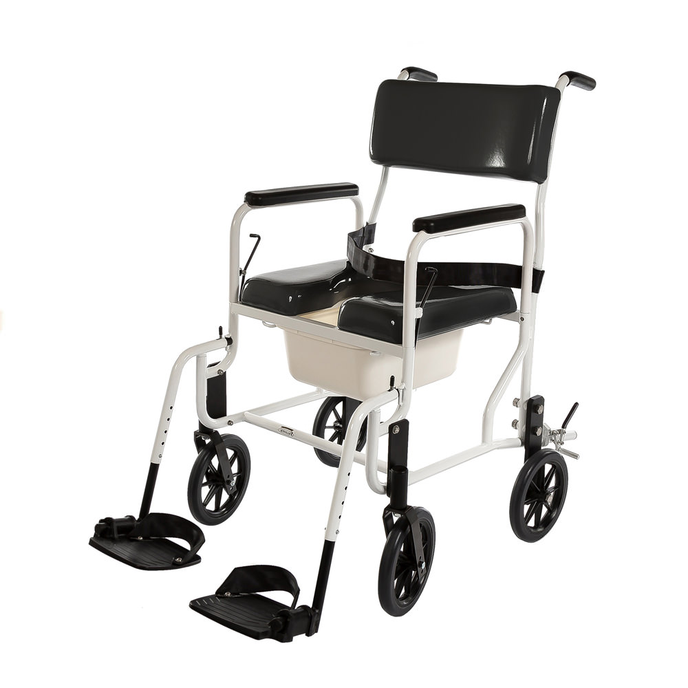 ActiveAid 480 Adult Stainless Steel Shower Commode Chair