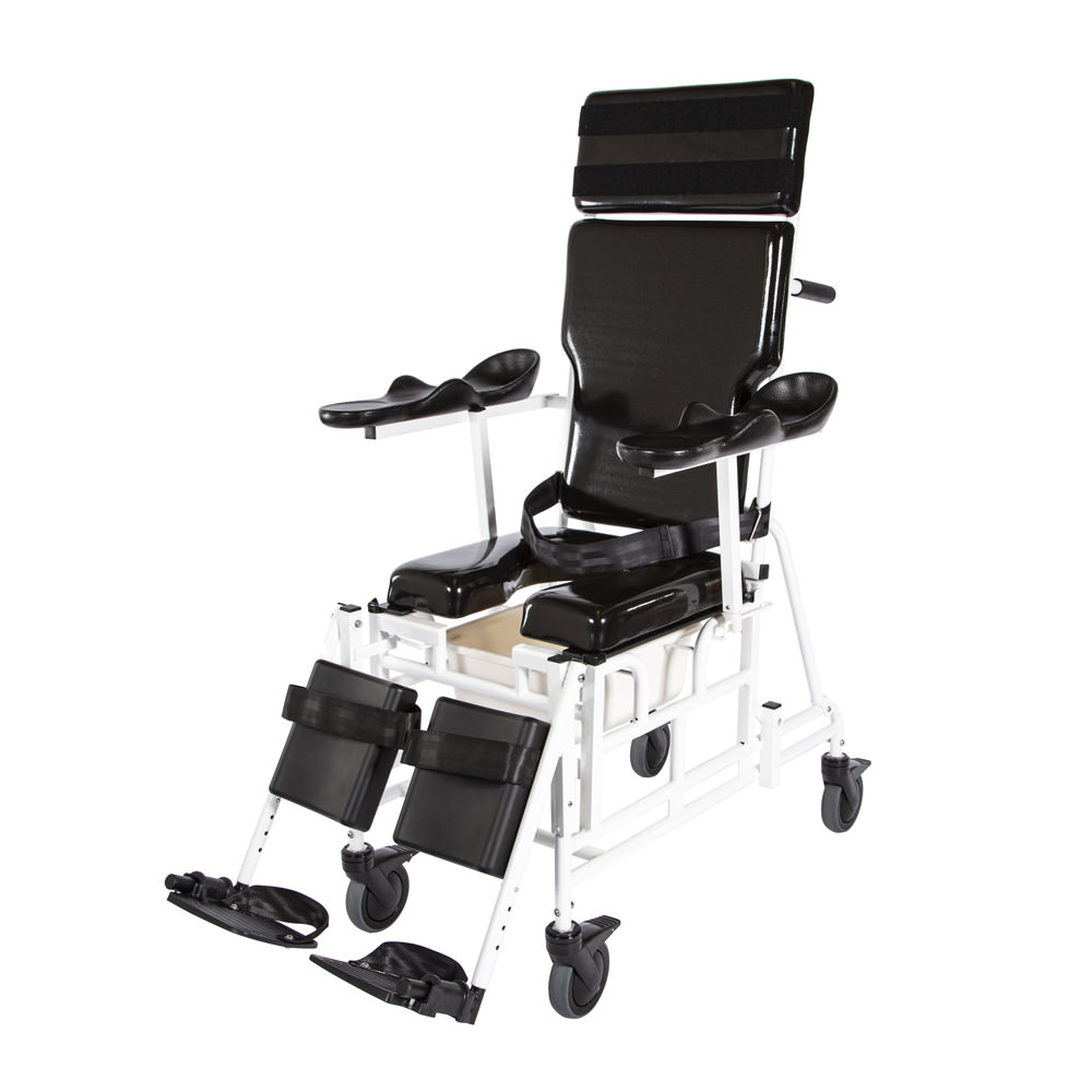 "ActiveAid 496 Traum-Aid Reclining Shower Commode Chair With 24"" Rear Wheels"