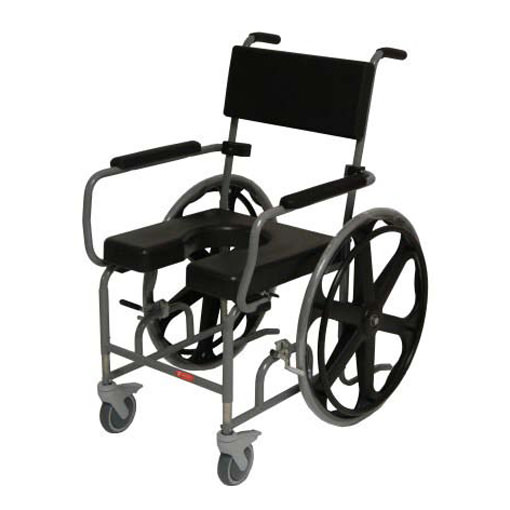 """ActiveAid evolution 824 height adjustable shower chair with 24"""" rear wheels"""