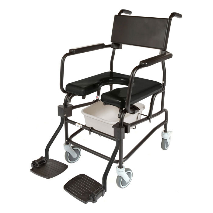 """ActiveAid JTG F605 Folding Shower Commode Chair With 5"""" Casters"""