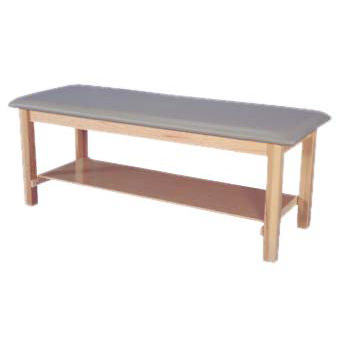 Armedica maple hardwood table with plain shelf
