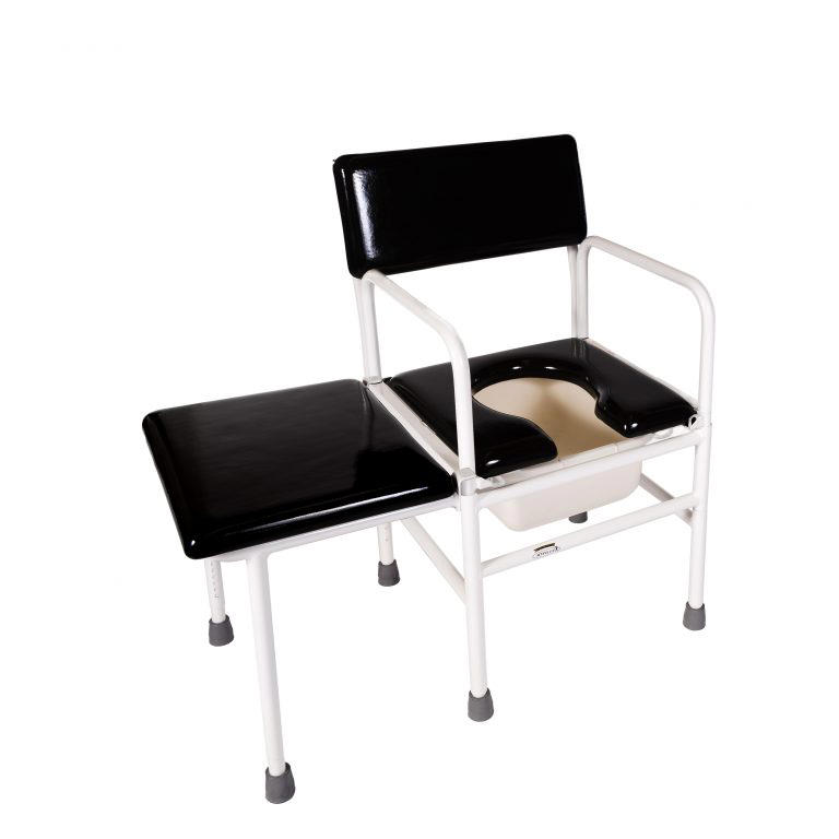 ActiveAid 277B stainless steel tub commode chair with transfer bench