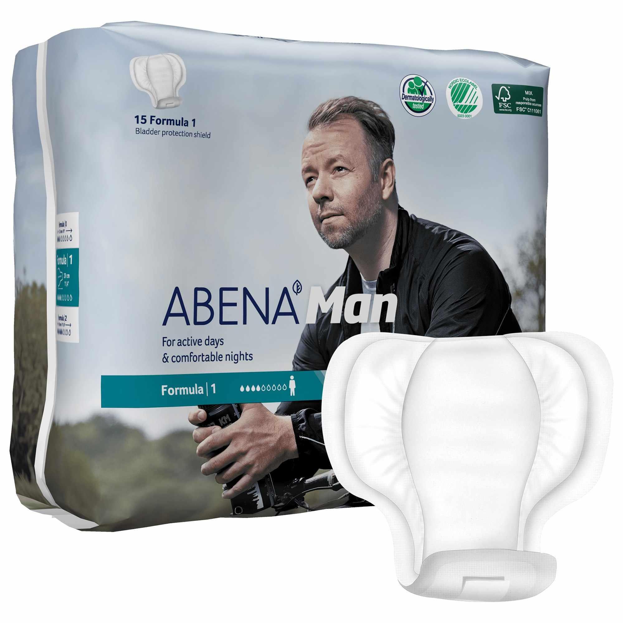 Abena Bladder Control Pad for Male, 450mL Absorbency, 23cm x 29cm