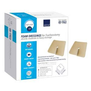 "Abena Foam Wound Dressing with Film Backing 3.2"" x 3.2"" Pad"