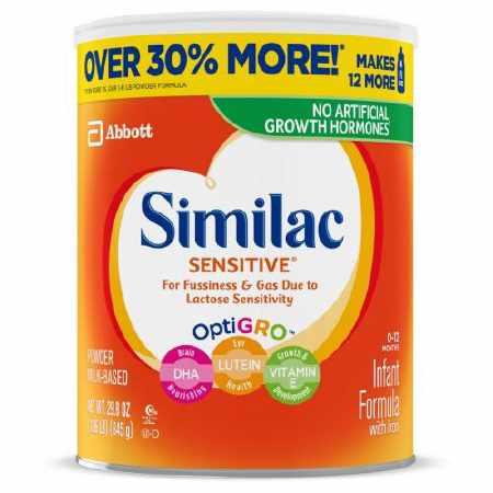 Abbott Similac Sensitive Infant Formula with Iron, Powder