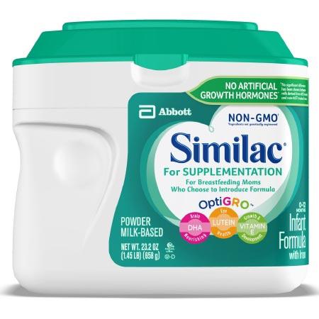 Similac For Supplementation Non-GMO Infant Formula with Similac For Supplementation Non-GMO Infant Formula with Optigro