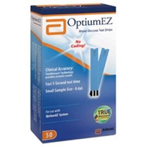 Abbott Optium EZ Blood Glucose Test Strips