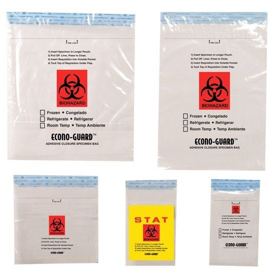 Econo-Guard Tamper Evident Specimen Bags