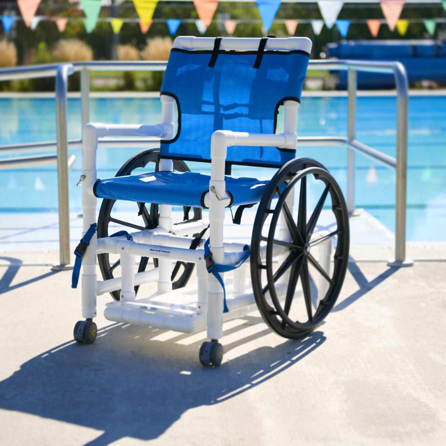 Aqua creek PVC pool access wheelchair