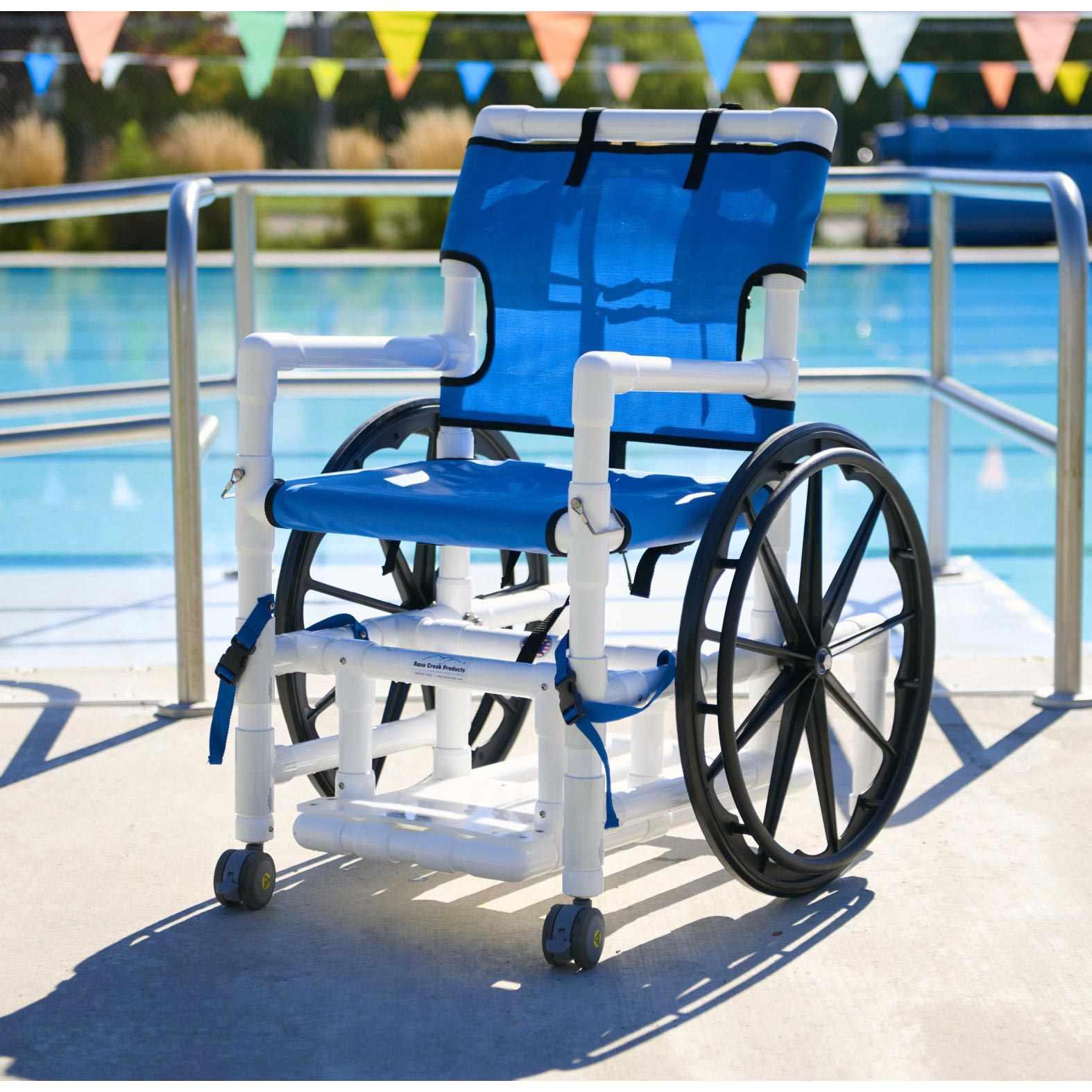 Aqua creek PVC pool access wheelchair