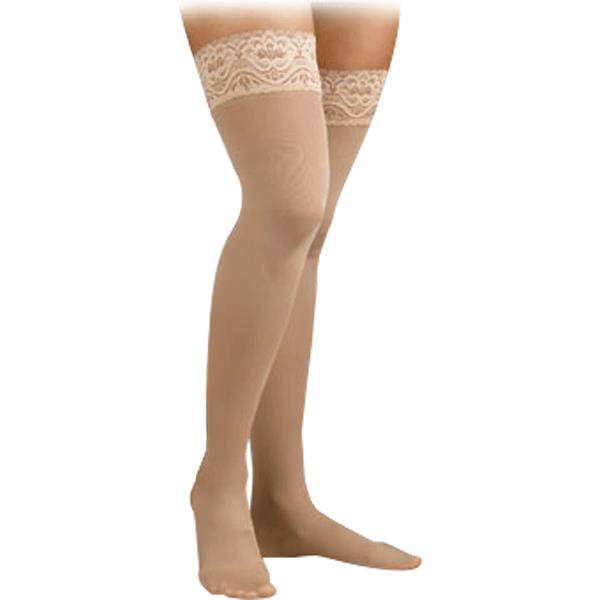 Activa Soft Fit Thigh High 20-30mmHg Stockings With Lace Top