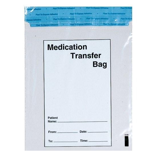 "Action Health Medication Transfer Bag, 8"" W x 10"" H, Printed"