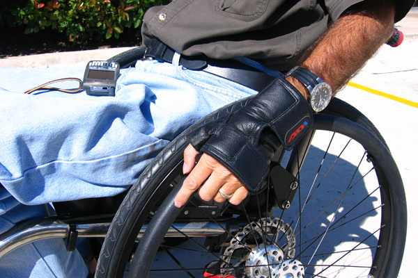 ADI push wheelchair gloves