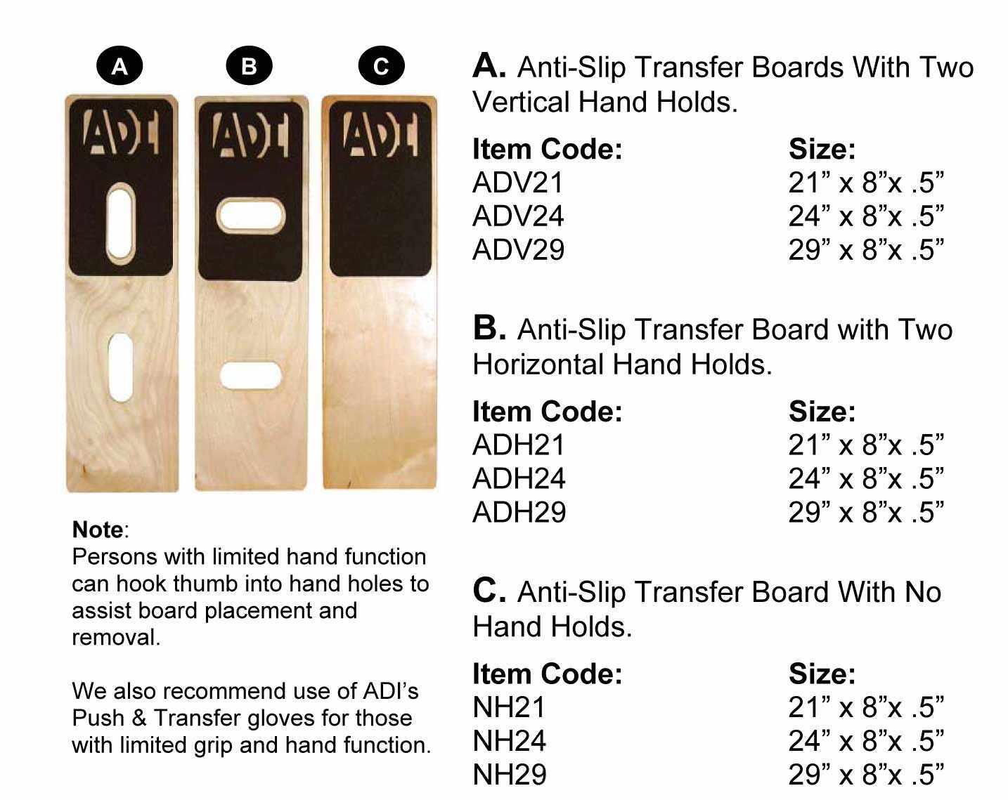 ADI Anti-Slip board