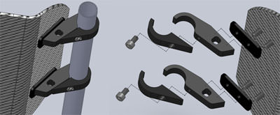 Carbon fiber series back support - standard