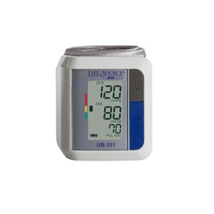 A&D Medical LifeSource Automatic Wrist Blood Pressure Monitor Travel Size