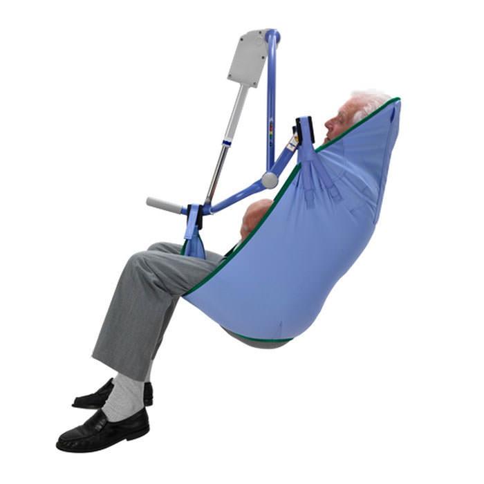 Arjostandard unpadded clip sling for 4-point patient lift