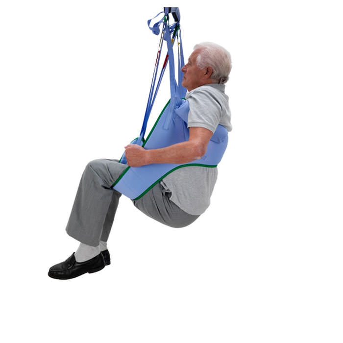 Arjo toilet loop sling without head support for 2-point patient lift