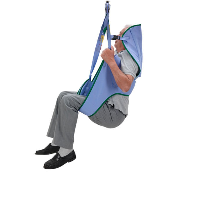 ArjoHuntleigh toilet loop sling with head support for 2-point patient lift