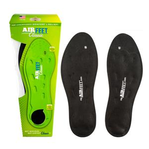 AirFeet Classic Shoe Insoles Size 1X 11 to 12.5 Male 13 to 15 Female Pair Black