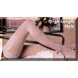 Albahealth C.A.R.E Anti-embolism Stockings, Thigh-high, White, Inspection Toe