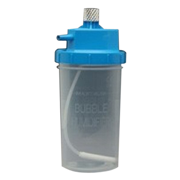 Allied Healthcare Disposable Humidifier with Metal Nut with Blue Cap, 3 psi