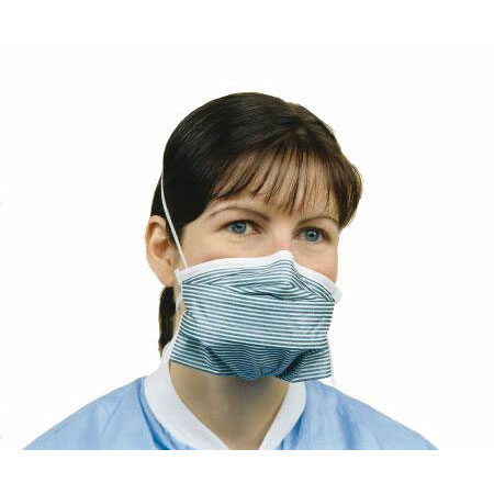 Alpha Critical Cover NonSterile Particulate Respirator Mask Teal Stripe