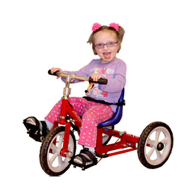 1410 tricycle with blue bucket seat