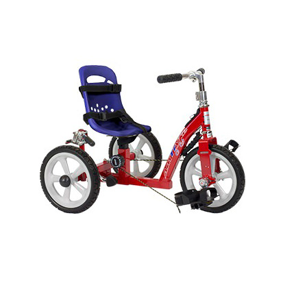 Amtryke 0150 tricycle with blue bucket seat