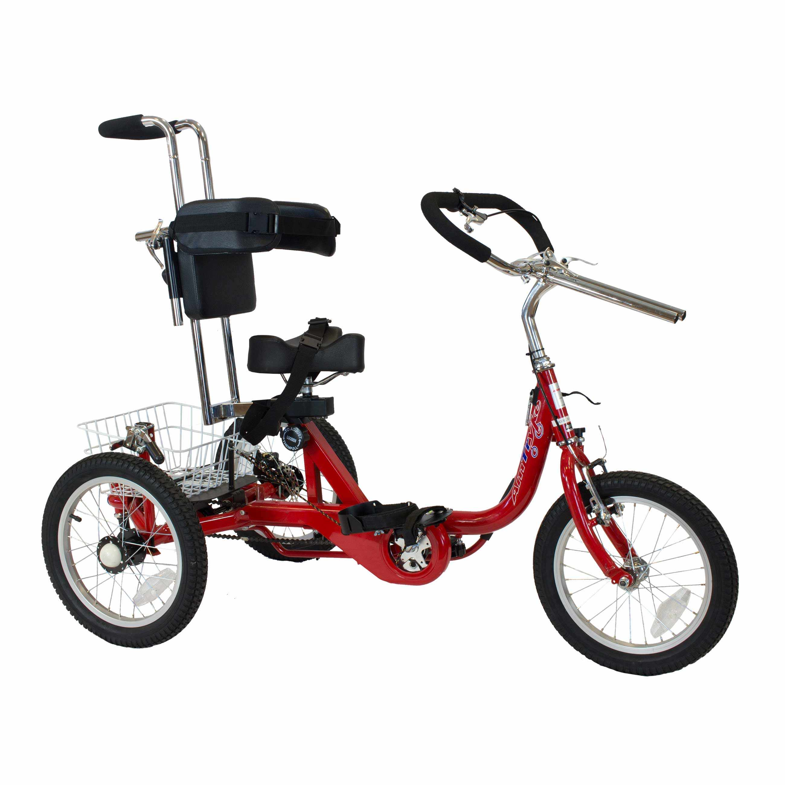 Amtryke ProSeries 1416 tricycle with 1400 seating system