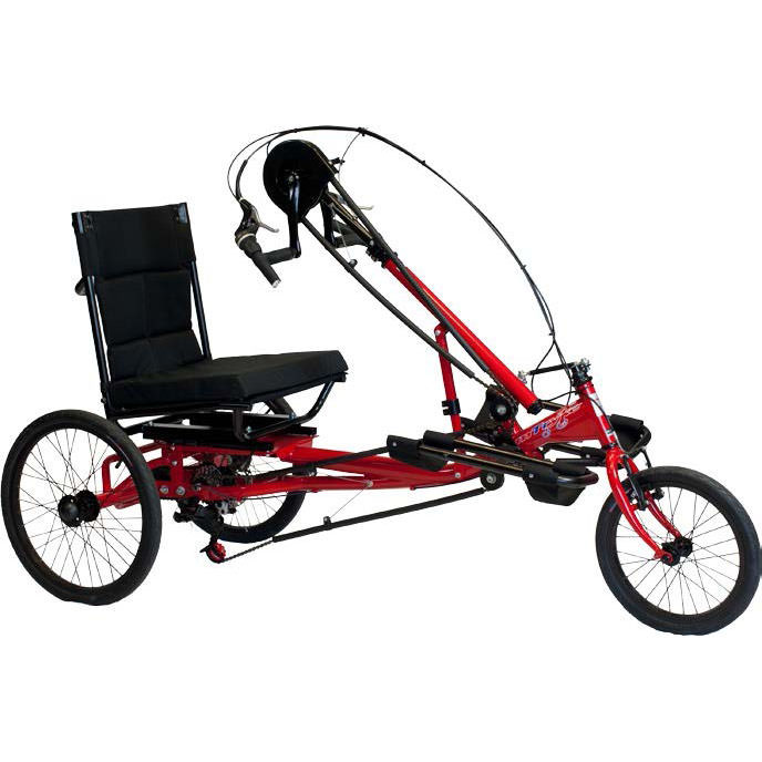 Amtryke HP-1000 recreation hand cycle with wheelchair seat
