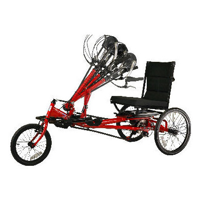 Amtryke HP-1000 hand cycle with wheelchair seat