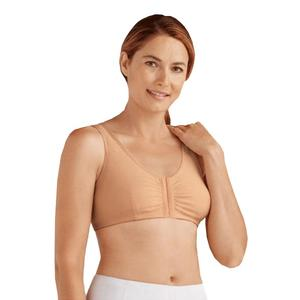 Amoena Frances Wire-Free Post-Surgical Bra, Size C/D (40/42), Large, Nude