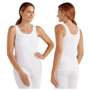 Amoena Michelle Post-Surgical Camisole Bra, Medium, Size 10/12, White