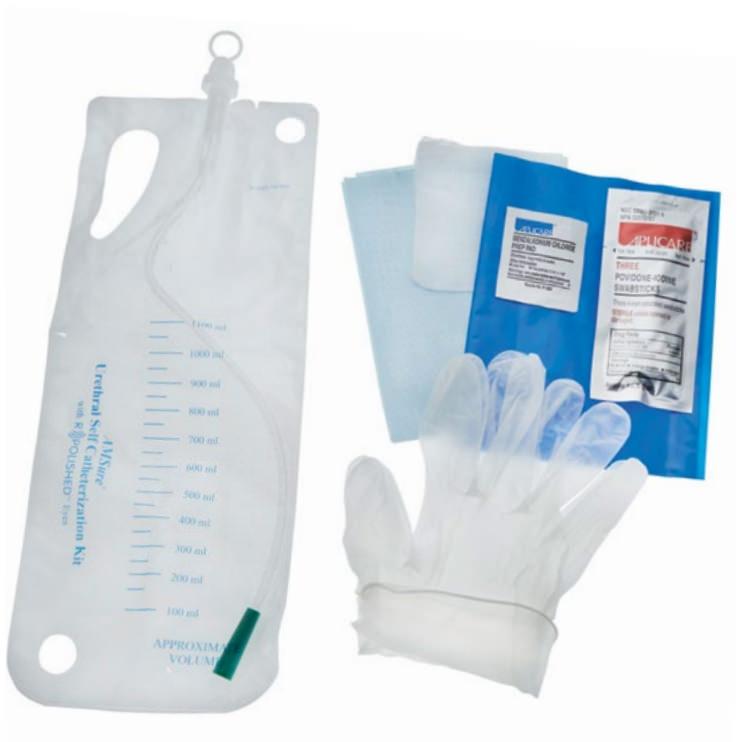 Amsure Urethral Self Catheterization Kit with R Polished Eyes