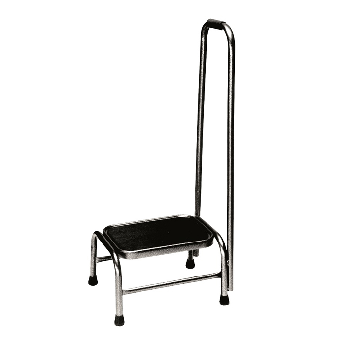 Armedica Non-skid rubber tread footstool with handrail option