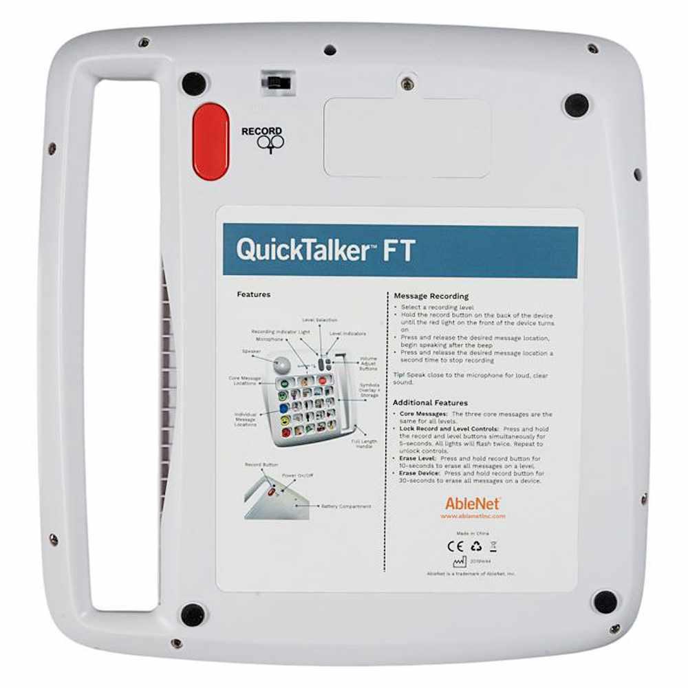 Ablenet QuickTalker FT 12 instructions
