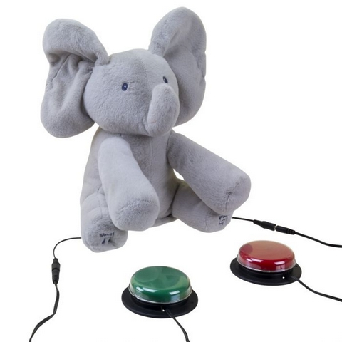 Ablenet Switch Adapted Flappy The Elephant shown with switch