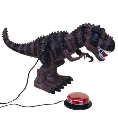 Ablenet Switch Adapted Walking T-Rex shown with switch
