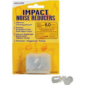 Apothecary Impact Noise Reducer Ear Plugs, 6 db
