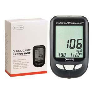 Arkray Glucocard Expression Blood Glucose Meter Kit 93mm x 58mm x 20.5mm