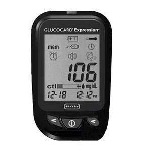 Arkray USA GlucoCard Expression Talking Blood Glucose Meter Black